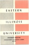 Bulletin 228 - Announcement of Graduate Courses 1959-1960 by Eastern Illinois University