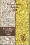 Bulletin 233 - Summer Session 1961 by Eastern Illinois University