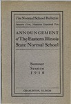 Bulletin 27 - Summer Session 1910 by Eastern Illinois University