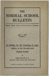 Bulletin 57 - An Outline for the Teaching of Agriculture in the Seventh and Eighth Grades by Carl Colvin