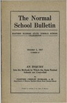Bulletin 58 - An Inquiry into the Methods by which the State Normal Schools are Controlled