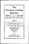 Bulletin 107 - Summer Session 1930 by Eastern Illinois University