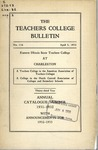 Bulletin 116 - Annual Catalogue 1931-1932 by Eastern Illinois University