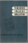 Bulletin 140 - Annual Catalogue 1937-1938 by Eastern Illinois University