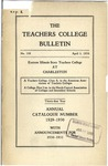 Bulletin 108 - Annual Catalogue 1929-1930 by Eastern Illinois University