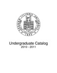 Eastern Illinois University Undergraduate Catalog 2010 - 2011 by Eastern Illinois University
