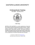 Eastern Illinois University Undergraduate Catalog 2009 - 2010