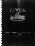 Eastern Illinois University Undergraduate Catalog 1994 - 1995 by Eastern Illinois University