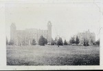Champaign, IL University Hall and Harker Hall by EIU Historical Administration Class of 1997