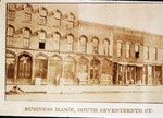 Mattoon, IL Business Block South Seventeenth St. by EIU Historical Administration Class of 1997