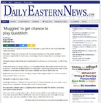 'Muggles' to get chance to play quidditch by Daily Eastern News