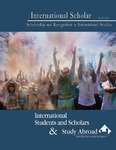 International Scholar: Scholarship and Recognition in International Studies by Graduate School of Eastern Illinois University
