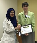 Student Junnatun Naym with Dr. Nora Pat Small by Beth Heldebrandt