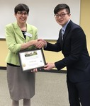 Student Wonjin Song with Dr. Nora Pat Small