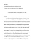 The Role of Language Education in Peacebuilding: The Case of Cyprus