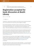Registration accepted for book discussion at Booth Library by Clint Walker