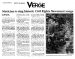 Musician to Sing Historic Civil Rights Movement Songs by T'Nerra Butler