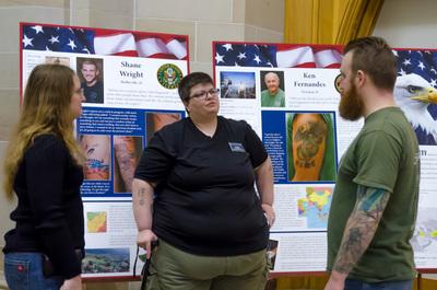"""""""Designs of Duty"""" exhibit reception"""