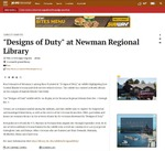 """Designs of Duty"" at Newman Regional Library by JG/T-C"