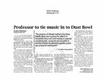 Professor to Tie Music into Dust Bowl by Abby Whittington