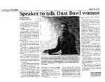 Speaker to talk Dust Bowl women by Abigail Taylor