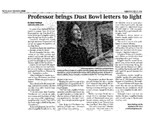 Professor brings Dust Bowl letters to light by Sean Hastings