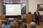 EIU President David Glassman speaks to the audience by Beth Heldebrandt