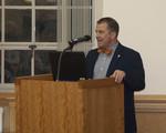 EIU Provost Jay Gatrell introduces the keynote speaker by Beth Heldebrandt