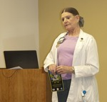 "Ramona Tomshack presents ""Influenza and Infection Prevention -- Can You Say FLU, SARS, MERS CoV?"" by Beth Heldebrandt"