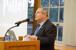President David Glassman speaks at Harry Potter exhibit opening