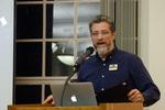 Associate Professor Steve Brantley introduces the keynote speaker by Beverly Cruse