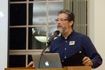 Associate Professor Steve Brantley introduces the keynote speaker