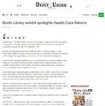 Booth Library exhibit spotlights health care reform by Shelbyville Daily Union