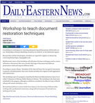 Workshop to Teach Document Restoration Techniques