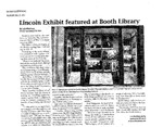 Lincoln Exhibit featured at Booth Library by Luis Martinez
