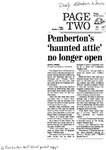 Pemberton's haunted attic no longer open by Daily Eastern News