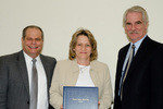 President Glassman, Diana Ingram, Guest, Provost Lord by Beverly Cruse