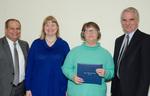 President Glassman, Kathryn Waggoner, Guest, Provost Lord