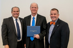 President Glassman and Jay Gatrell, V.P. of Academic Affairs with Gary Aylesworth by Beverly Cruse