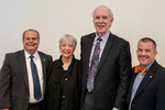 President Glassman and Jay Gatrell, V.P. of Academic Affairs with Roger Beck & Guest by Beverly Cruse