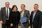 President Glassman and Jay Gatrell, V.P. of Academic Affairs with Minh Dao & Guest by Beverly Cruse
