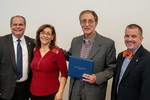 President Glassman and Jay Gatrell, V.P. of Academic Affairs with Karim Ezzatkhah Yenggeh & Guest by Beverly Cruse