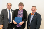 President Glassman and Jay Gatrell, V.P. of Academic Affairs with Pamela Ferrell by Beverly Cruse