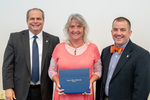 President Glassman and Jay Gatrell, V.P. of Academic Affairs with Karen Hart by Beverly Cruse