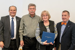 President Glassman and Jay Gatrell, V.P. of Academic Affairs with JoAnn Ingle & Guest by Beverly Cruse