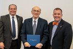 President Glassman and Jay Gatrell, V.P. of Academic Affairs with Thomas Moncada by Beverly Cruse