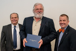 President Glassman and Jay Gatrell, V.P. of Academic Affairs with Charles Pederson by Beverly Cruse