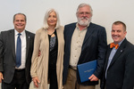 President Glassman and Jay Gatrell, V.P. of Academic Affairs with Charles Pederson & Guest by Beverly Cruse