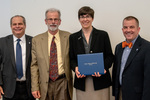 President Glassman and Jay Gatrell, V.P. of Academic Affairs with Nora Pat Small & Guest by Beverly Cruse