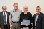 President Glassman and Jay Gatrell, V.P. of Academic Affairs with Karen Whisler & Guest by Beverly Cruse